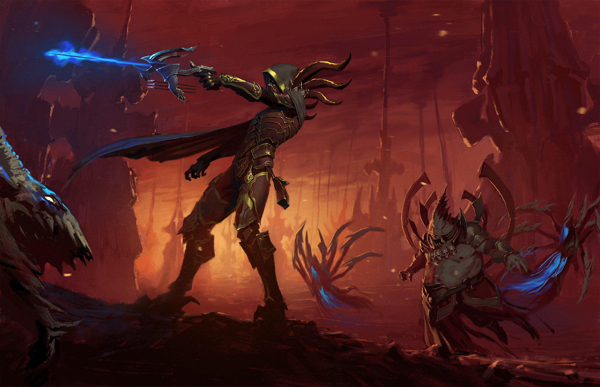 diablo_iii_demon_hunter_by_eleeron-d8rzwhr